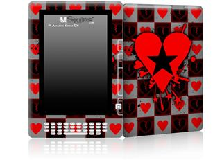 Emo Star Heart - Decal Style Skin for Amazon Kindle DX