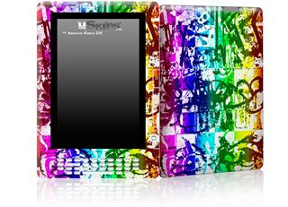 Rainbow Graffiti - Decal Style Skin for Amazon Kindle DX