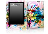 Floral Splash - Decal Style Skin for Amazon Kindle DX