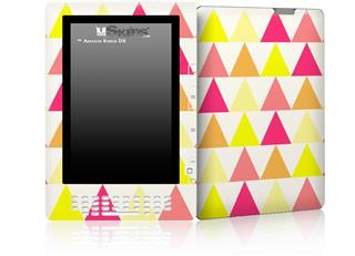 Triangles Warm - Decal Style Skin for Amazon Kindle DX