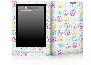 Kearas Peace Signs - Decal Style Skin for Amazon Kindle DX