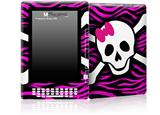 Pink Zebra Skull - Decal Style Skin for Amazon Kindle DX