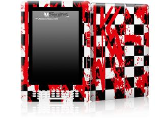 Checkerboard Splatter - Decal Style Skin for Amazon Kindle DX