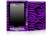 Purple Zebra - Decal Style Skin for Amazon Kindle DX