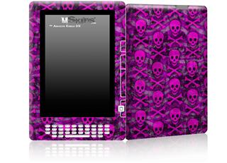 Pink Skull Bones - Decal Style Skin for Amazon Kindle DX