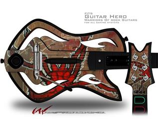 Weaving Spiders Decal Style Skin - fits Warriors Of Rock Guitar Hero Guitar (GUITAR NOT INCLUDED)