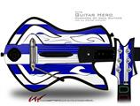Psycho Stripes Blue and White Decal Style Skin - fits Warriors Of Rock Guitar Hero Guitar (GUITAR NOT INCLUDED)