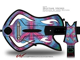 Tie Dye Peace Sign 100 Decal Style Skin - fits Warriors Of Rock Guitar Hero Guitar (GUITAR NOT INCLUDED)