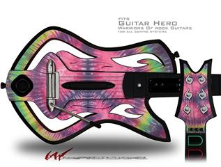Tie Dye Peace Sign 103 Decal Style Skin - fits Warriors Of Rock Guitar Hero Guitar (GUITAR NOT INCLUDED)
