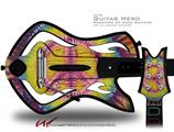 Tie Dye Peace Sign 109 Decal Style Skin - fits Warriors Of Rock Guitar Hero Guitar (GUITAR NOT INCLUDED)
