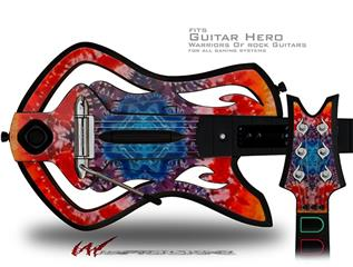 Tie Dye Star 100 Decal Style Skin - fits Warriors Of Rock Guitar Hero Guitar (GUITAR NOT INCLUDED)