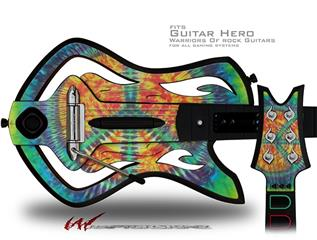 Tie Dye Peace Sign 111 Decal Style Skin - fits Warriors Of Rock Guitar Hero Guitar (GUITAR NOT INCLUDED)