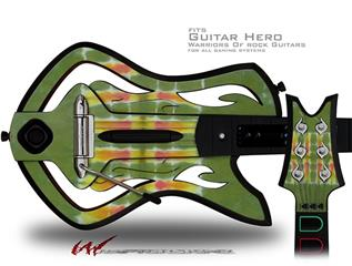 Tie Dye Spine 101 Decal Style Skin - fits Warriors Of Rock Guitar Hero Guitar (GUITAR NOT INCLUDED)