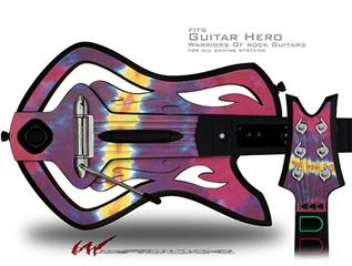 Tie Dye Spine 105 Decal Style Skin - fits Warriors Of Rock Guitar Hero Guitar (GUITAR NOT INCLUDED)