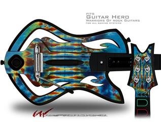 Tie Dye Spine 106 Decal Style Skin - fits Warriors Of Rock Guitar Hero Guitar (GUITAR NOT INCLUDED)