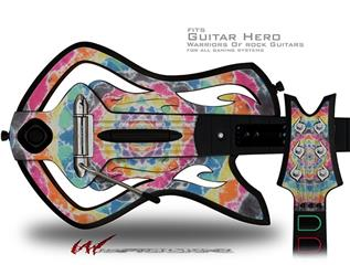 Tie Dye Star 104 Decal Style Skin - fits Warriors Of Rock Guitar Hero Guitar (GUITAR NOT INCLUDED)