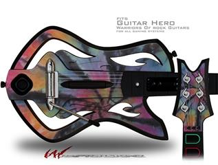 Tie Dye Swirl 106 Decal Style Skin - fits Warriors Of Rock Guitar Hero Guitar (GUITAR NOT INCLUDED)