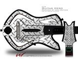 Diamond Plate Metal Decal Style Skin - fits Warriors Of Rock Guitar Hero Guitar (GUITAR NOT INCLUDED)