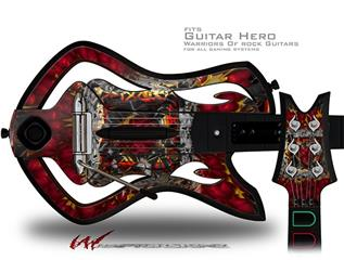 Bed Of Roses Decal Style Skin - fits Warriors Of Rock Guitar Hero Guitar (GUITAR NOT INCLUDED)