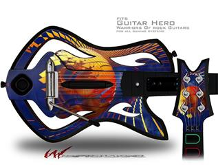 Genesis 01 Decal Style Skin - fits Warriors Of Rock Guitar Hero Guitar (GUITAR NOT INCLUDED)