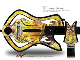 Golden Breasts Decal Style Skin - fits Warriors Of Rock Guitar Hero Guitar (GUITAR NOT INCLUDED)
