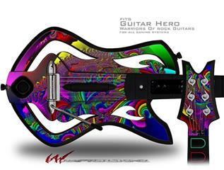 And This Is Your Brain On Drugs Decal Style Skin - fits Warriors Of Rock Guitar Hero Guitar (GUITAR NOT INCLUDED)