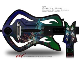 Amt Decal Style Skin - fits Warriors Of Rock Guitar Hero Guitar (GUITAR NOT INCLUDED)