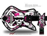 Splatter Girly Skull Decal Style Skin - fits Warriors Of Rock Guitar Hero Guitar (GUITAR NOT INCLUDED)
