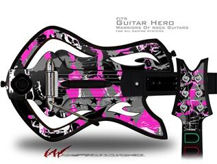 SceneKid Pink Decal Style Skin - fits Warriors Of Rock Guitar Hero Guitar (GUITAR NOT INCLUDED)