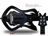 Blue Fern Decal Style Skin - fits Warriors Of Rock Guitar Hero Guitar (GUITAR NOT INCLUDED)