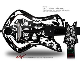Monsters Decal Style Skin - fits Warriors Of Rock Guitar Hero Guitar (GUITAR NOT INCLUDED)