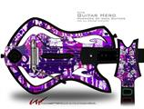 Purple Checker Graffiti Decal Style Skin - fits Warriors Of Rock Guitar Hero Guitar (GUITAR NOT INCLUDED)