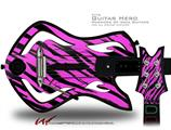 Pink Tiger Decal Style Skin - fits Warriors Of Rock Guitar Hero Guitar (GUITAR NOT INCLUDED)