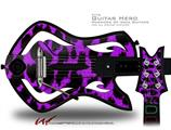 Purple Leopard Decal Style Skin - fits Warriors Of Rock Guitar Hero Guitar (GUITAR NOT INCLUDED)