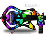 Rainbow Leopard Decal Style Skin - fits Warriors Of Rock Guitar Hero Guitar (GUITAR NOT INCLUDED)