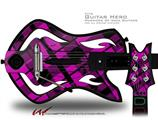 Pink Plaid Decal Style Skin - fits Warriors Of Rock Guitar Hero Guitar (GUITAR NOT INCLUDED)