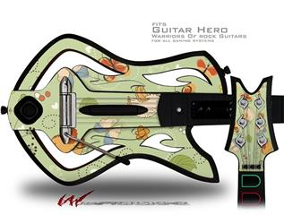 Birds Butterflies and Flowers Decal Style Skin - fits Warriors Of Rock Guitar Hero Guitar (GUITAR NOT INCLUDED)