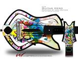 Floral Splash Decal Style Skin - fits Warriors Of Rock Guitar Hero Guitar (GUITAR NOT INCLUDED)