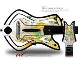 Water Butterflies Decal Style Skin - fits Warriors Of Rock Guitar Hero Guitar (GUITAR NOT INCLUDED)