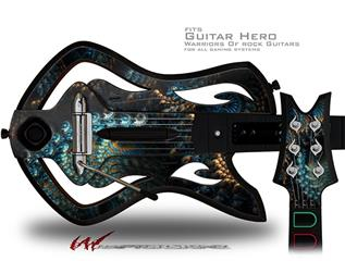 Coral Reef Decal Style Skin - fits Warriors Of Rock Guitar Hero Guitar (GUITAR NOT INCLUDED)
