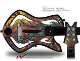 Fire And Water Decal Style Skin - fits Warriors Of Rock Guitar Hero Guitar (GUITAR NOT INCLUDED)