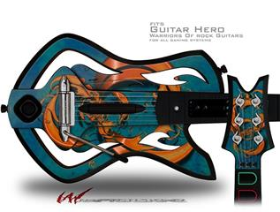 Dragon2 Decal Style Skin - fits Warriors Of Rock Guitar Hero Guitar (GUITAR NOT INCLUDED)