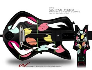 Plain Leaves On Black Decal Style Skin - fits Warriors Of Rock Guitar Hero Guitar (GUITAR NOT INCLUDED)