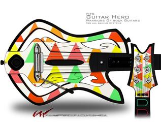 Triangles Citrus Decal Style Skin - fits Warriors Of Rock Guitar Hero Guitar (GUITAR NOT INCLUDED)