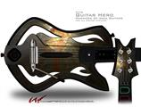 Fireball Decal Style Skin - fits Warriors Of Rock Guitar Hero Guitar (GUITAR NOT INCLUDED)