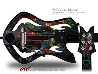 6D Decal Style Skin - fits Warriors Of Rock Guitar Hero Guitar (GUITAR NOT INCLUDED)