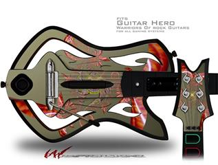 Flutter Decal Style Skin - fits Warriors Of Rock Guitar Hero Guitar (GUITAR NOT INCLUDED)