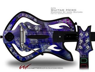 Flowery Decal Style Skin - fits Warriors Of Rock Guitar Hero Guitar (GUITAR NOT INCLUDED)