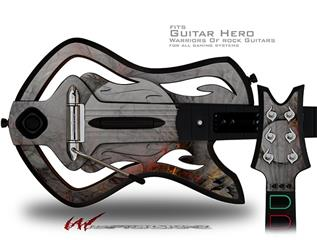 Framed Decal Style Skin - fits Warriors Of Rock Guitar Hero Guitar (GUITAR NOT INCLUDED)