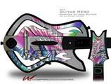 Fan Decal Style Skin - fits Warriors Of Rock Guitar Hero Guitar (GUITAR NOT INCLUDED)